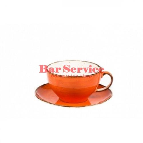 Чашка с блюдцем 375 мл Orange Sky Fusion в Красноярске