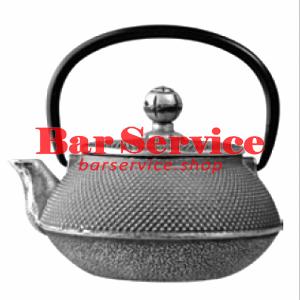 Чайник с ситечком; чугун; 650мл; D=8.7,H=9.4,L=14.5см черный в Красноярске