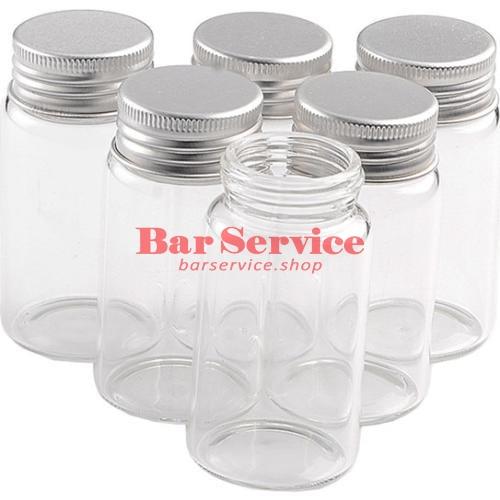 Бутылка прозрачная с алюминиевой крышкой 220мл 5,9*11,2см  в Красноярске